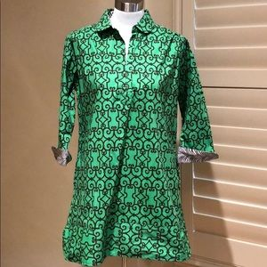 Tizzie Tunic Green and Brown Size Medium